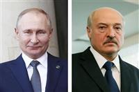 露、ベラルーシ改憲支持 首脳会談で協調確認