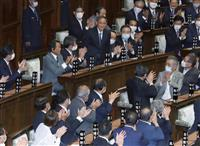 参院首相指名 菅氏は142票
