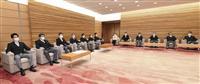 首相両脇は麻生、茂木氏 閣僚の応接室席順