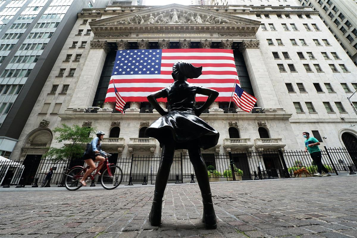 NY株一時300ドル超安 米失業保険申請が高止まり