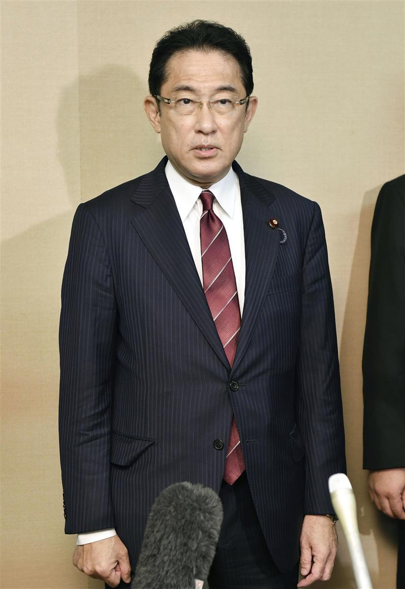 自民・岸田前政調会長「菅内閣は『堅実内閣』、支えていく」