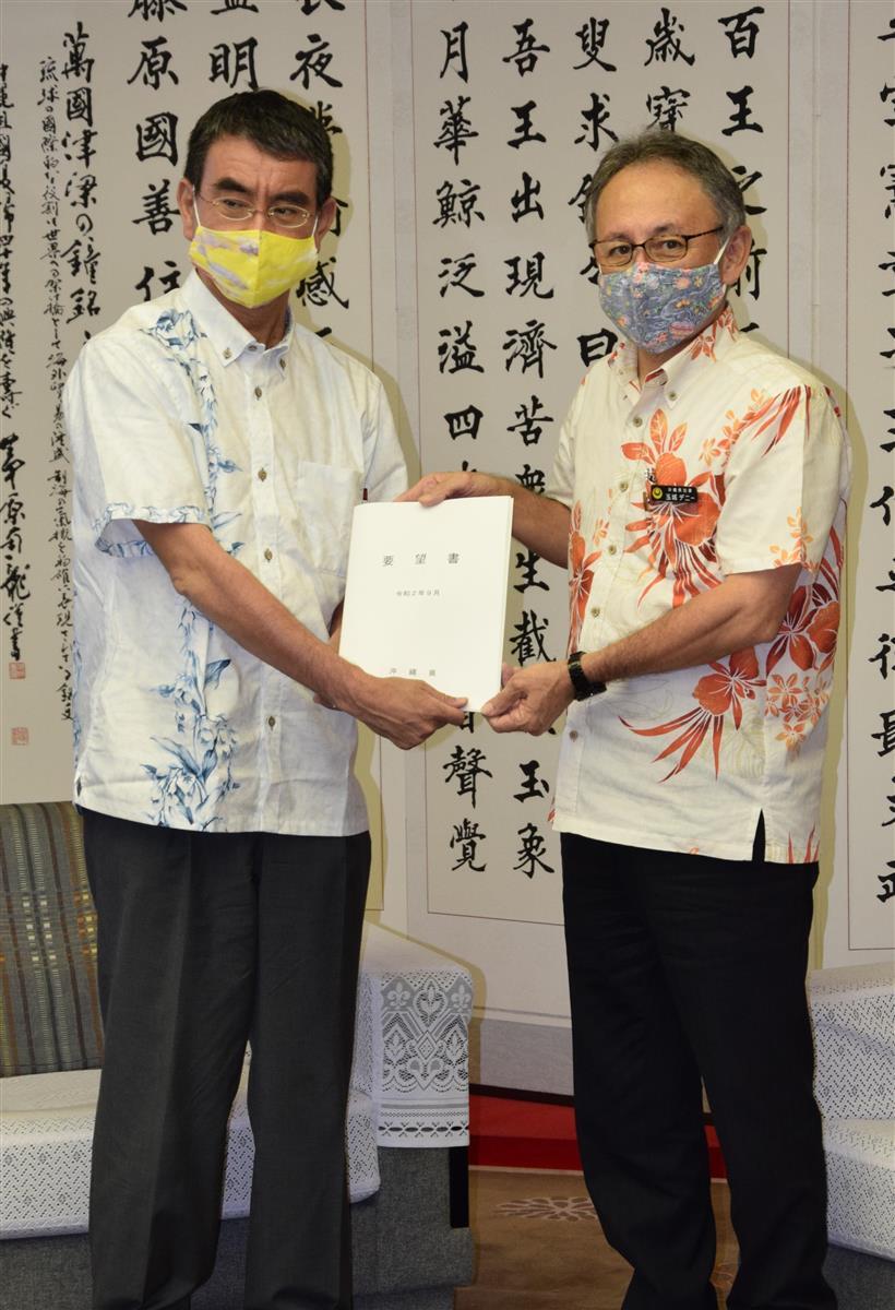 河野太郎沖北相が早くも沖縄訪問「スピード感もって動きたい」 …