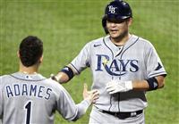 筒香がメジャー初三塁打 5打数2安打 「塁に出ることが大事」
