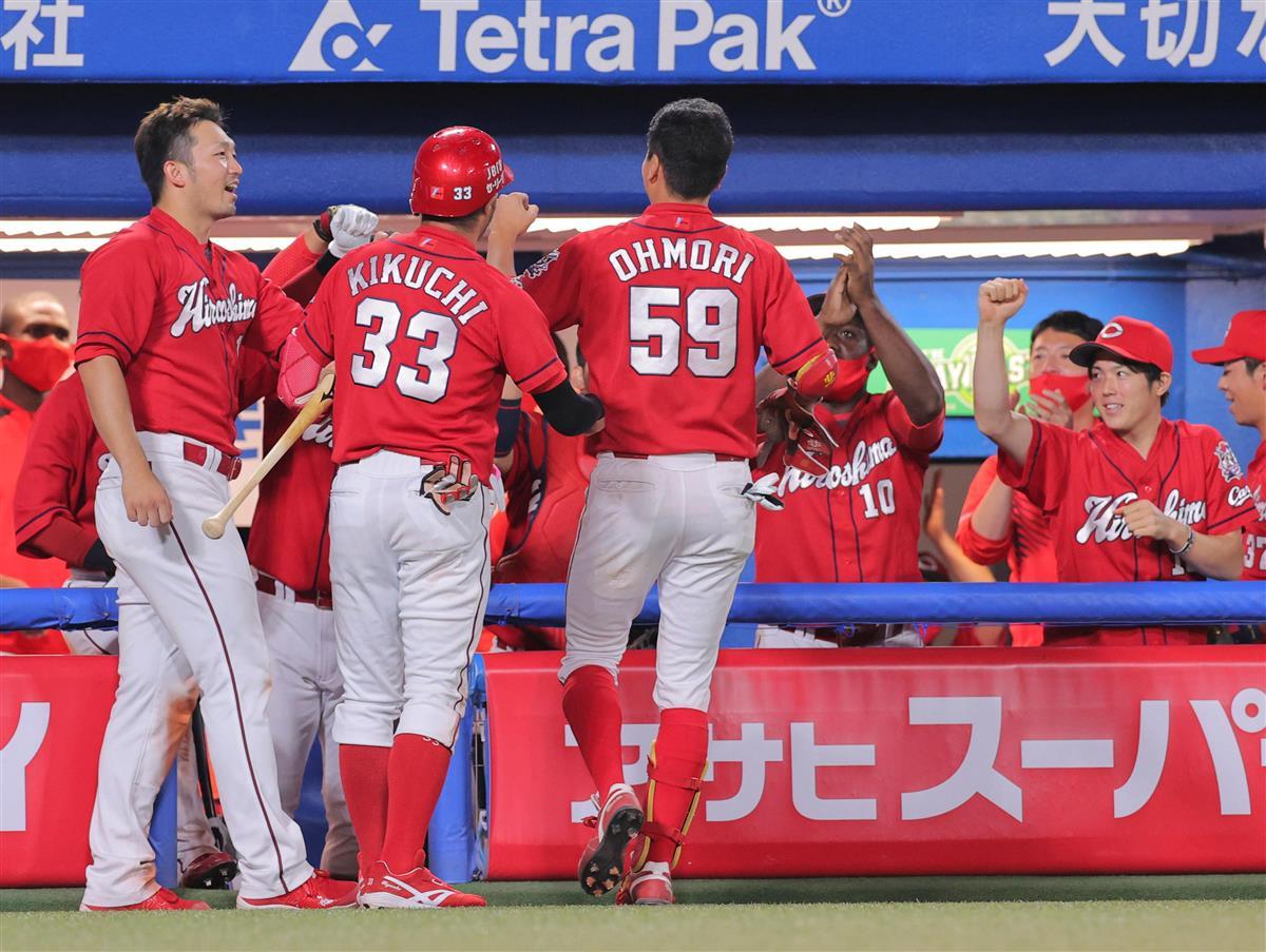 ヤ2-3広 広島が競り勝つ