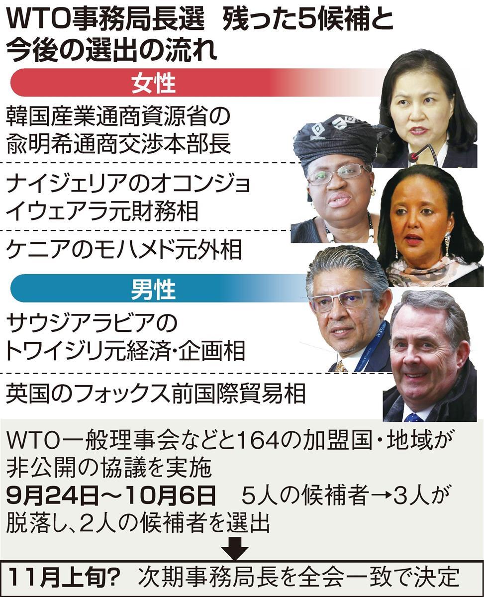 WTO事務局長選 中国の主張認めた判断に米反発、越年も
