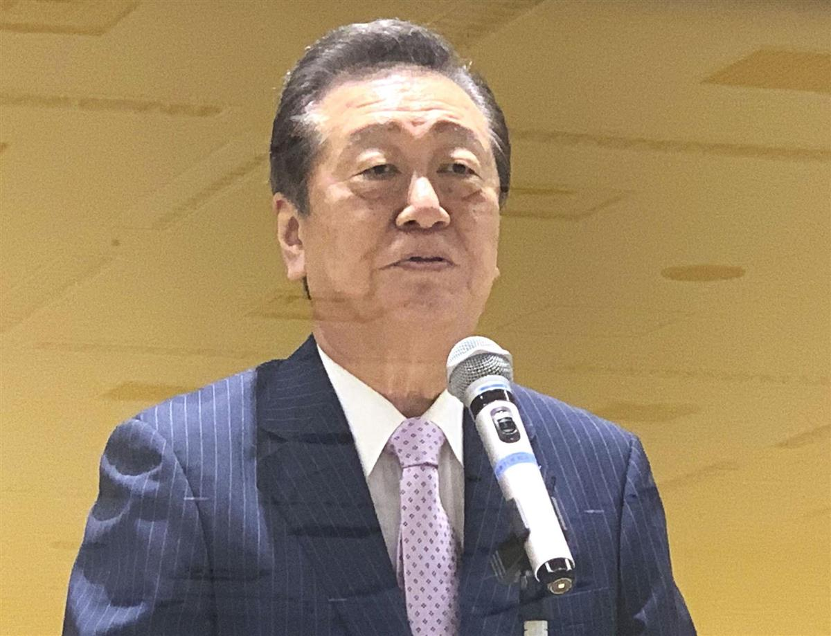 小沢氏「1年以内に政権」 合流新党結成で意欲