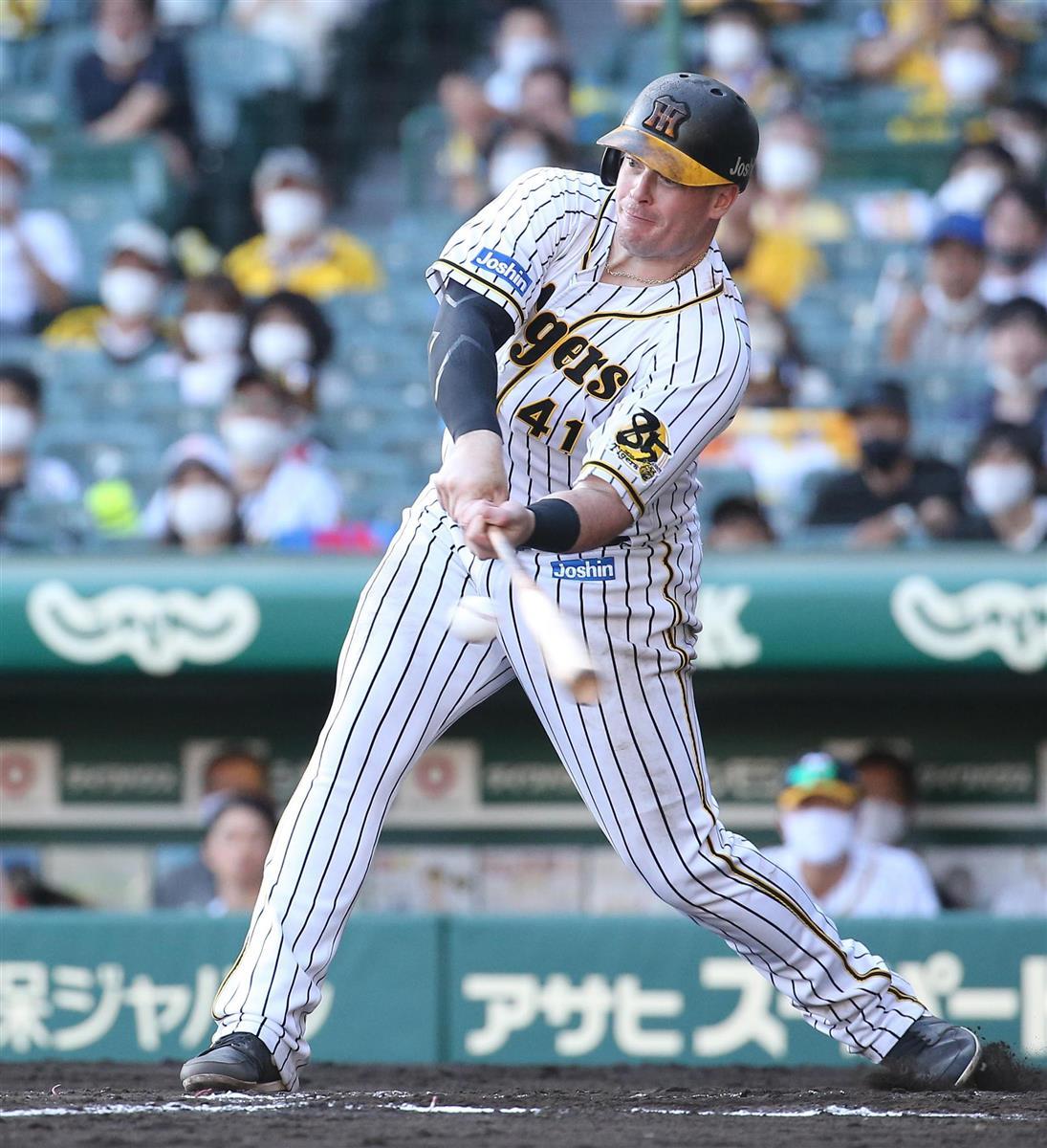 阪神ボーア、同点弾&決勝打「ファンからエネルギーもらった」