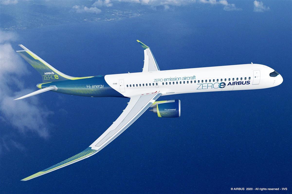 エアバス、2035年までにCO2ゼロ航空機 燃料に水素