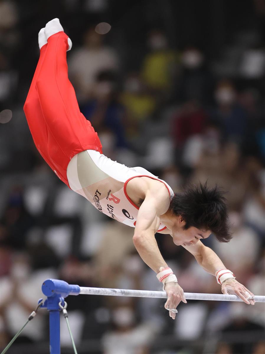 鉄棒専念の内村6位 個人は萱、村上V2 全日本シニア体操