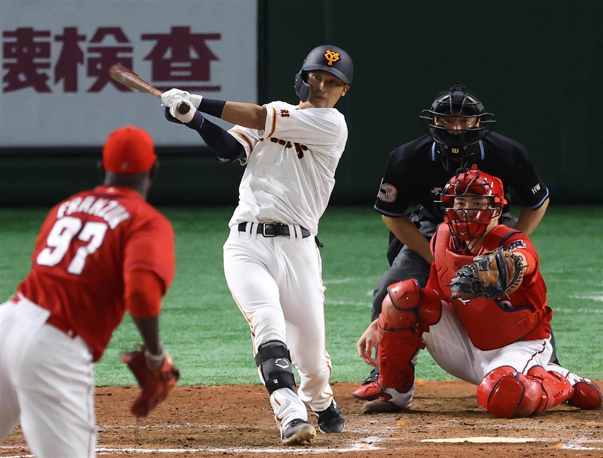 巨5-4広 吉川尚サヨナラ打、巨人50勝目