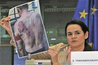 拘束中の強姦、拷問が横行 ベラルーシ反体制派が演説