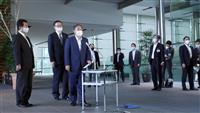 日韓首脳電話会談 首相が記者団に説明