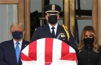 トランプ氏の最高裁判事追悼時に群衆がやじ 「落選させろ」