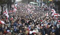 大統領選から50日 デモ再び拡大 就任式に反発か ベラルーシ