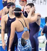 池江が400メートルリレー出場 競泳の日本学生選手権