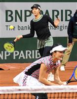 青山、柴原組が16強入り ナダル快勝 全仏テニス