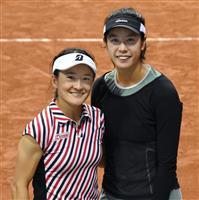 青山、柴原組が初の8強 全仏テニス女子ダブルス