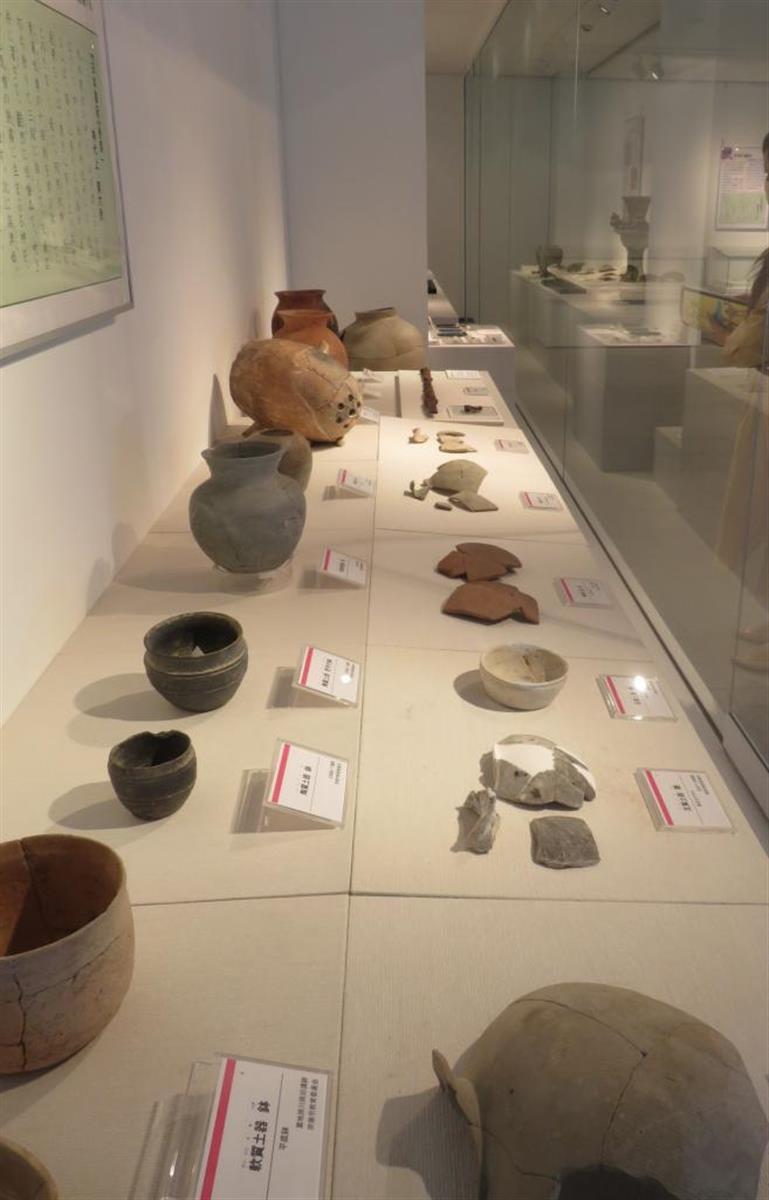 九州歴史資料館で開催している「福岡の古代豪族」展の展示物