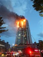 93人搬送、3人重傷 韓国タワーマンション火災