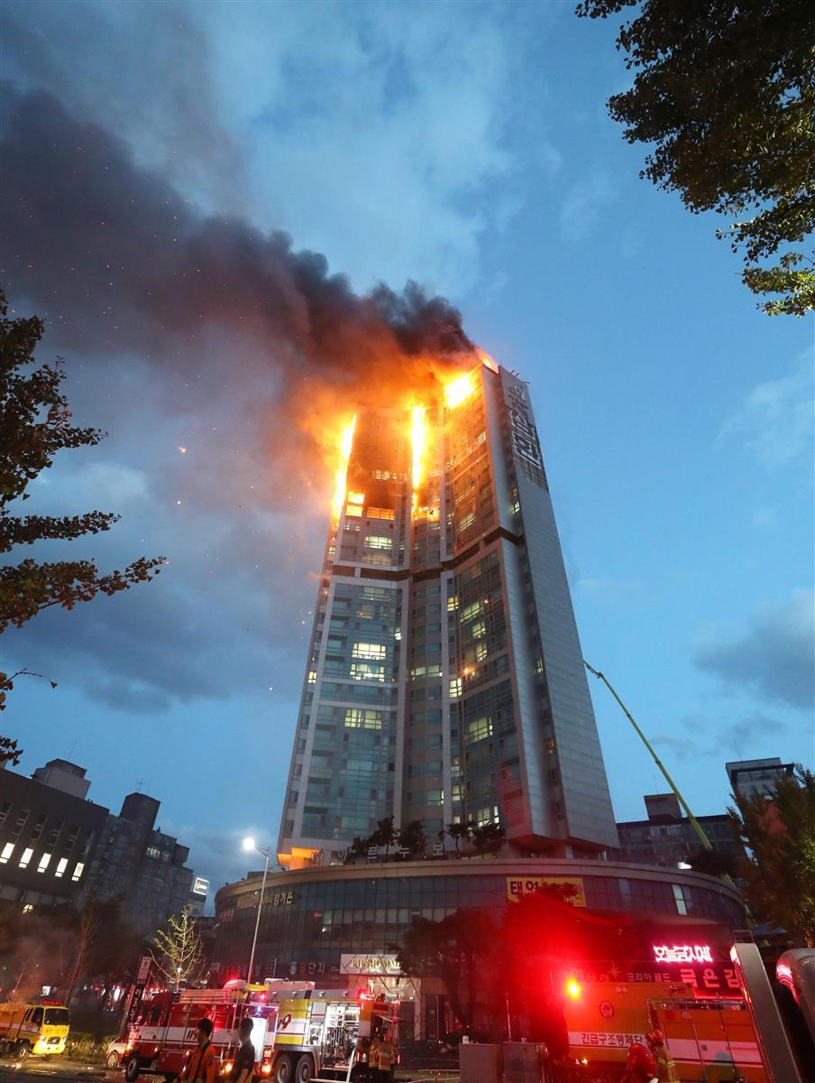 93人搬送、3人重傷 韓国タワーマンション火災 - 産経ニュース