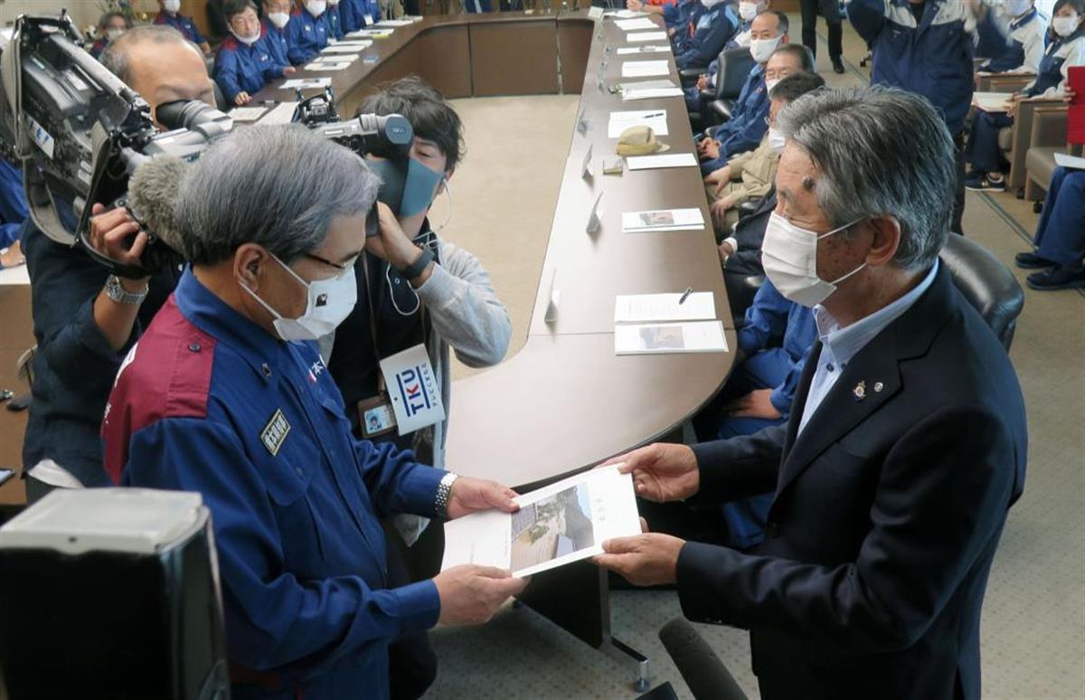 川辺川ダム「治水の柱に」 熊本知事に流域市町村要望