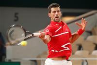 ジョコビッチが打ち合い競り勝つ 全仏テニス準決勝