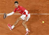 ジョコビッチ完敗で快挙ならず 全仏テニス
