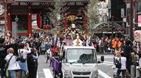浅草の三社祭、みこしは車で移動 コロナ対策、5カ月遅れ