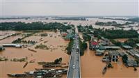 豪雨続いたベトナム、水害死者60人に カンボジアでも24人犠牲