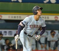 近大の佐藤、最多の通算14本塁打 OB二岡の記録更新