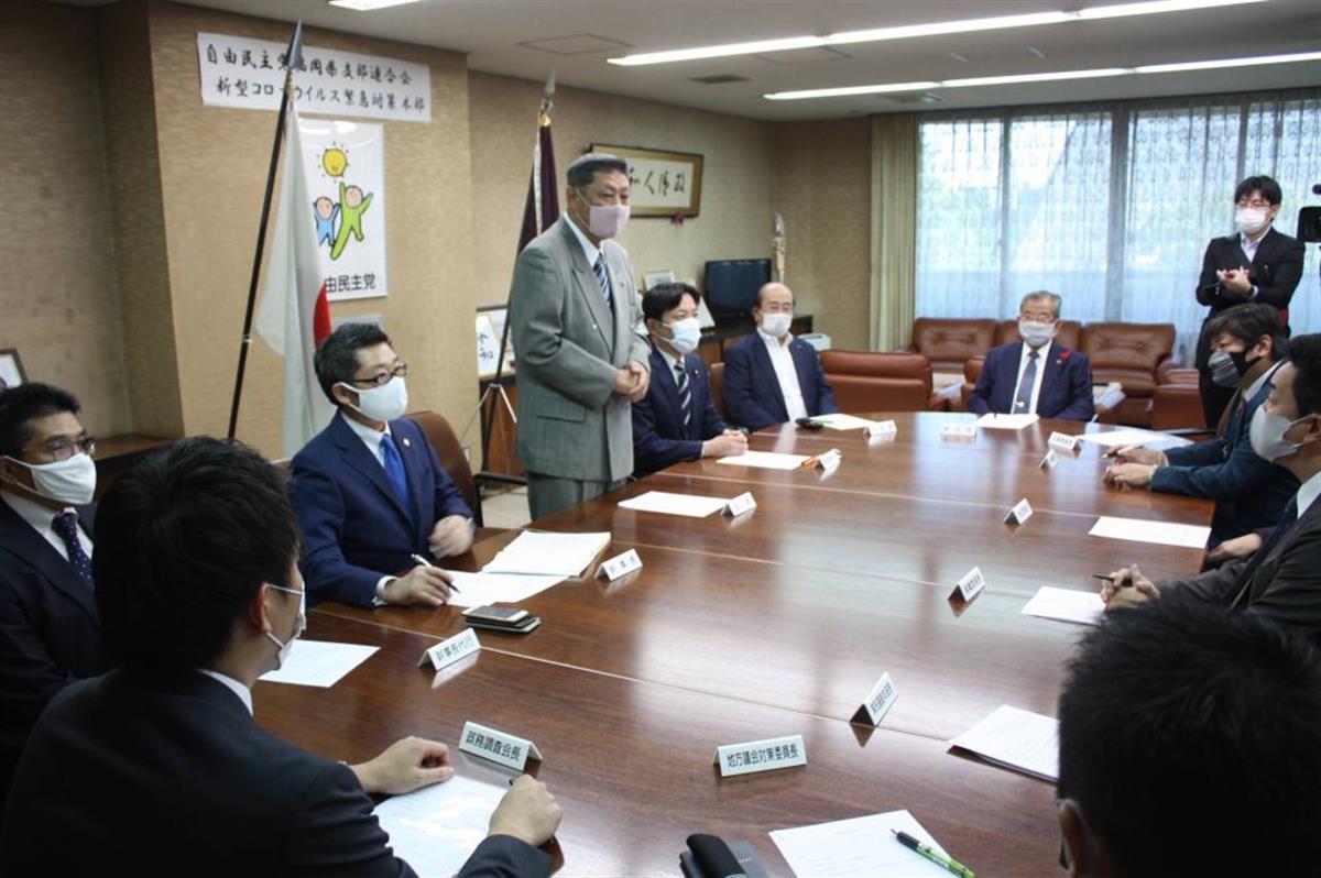 衆院福岡5区の公認候補について協議した自民党福岡県連の執行部会