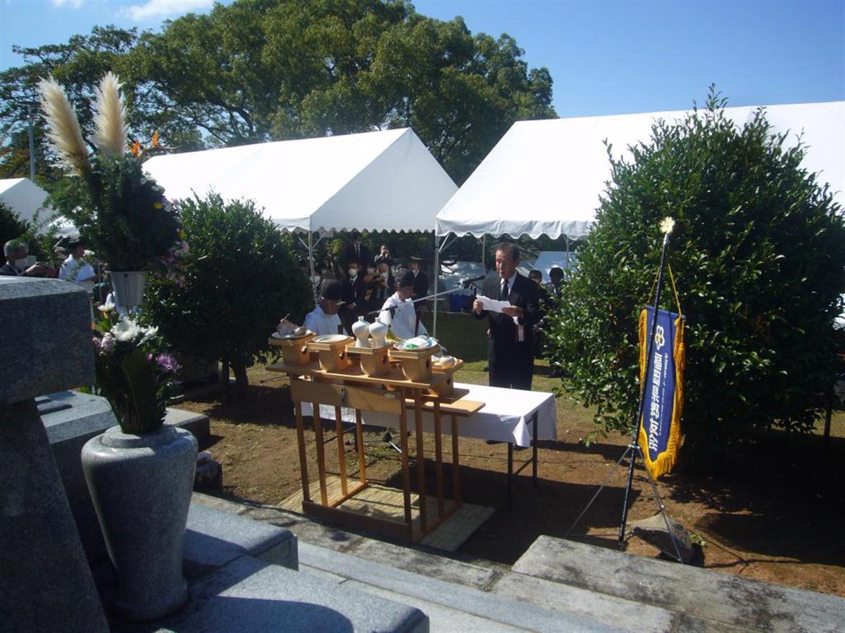 「英霊の犠牲忘れない」 福岡陸軍墓地で慰霊祭