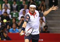 錦織、右肩故障で棄権 ヨーロピアンOPテニス