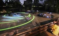 【動画あり】巨大な龍を投影 高台寺で秋季ライトアップ試験点灯