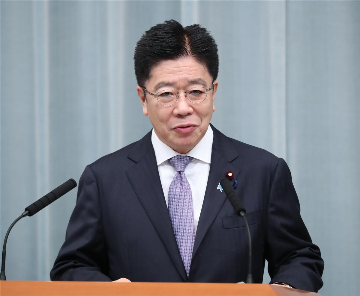 加藤長官「コメント控える」 韓国与党幹部の徴用工発言