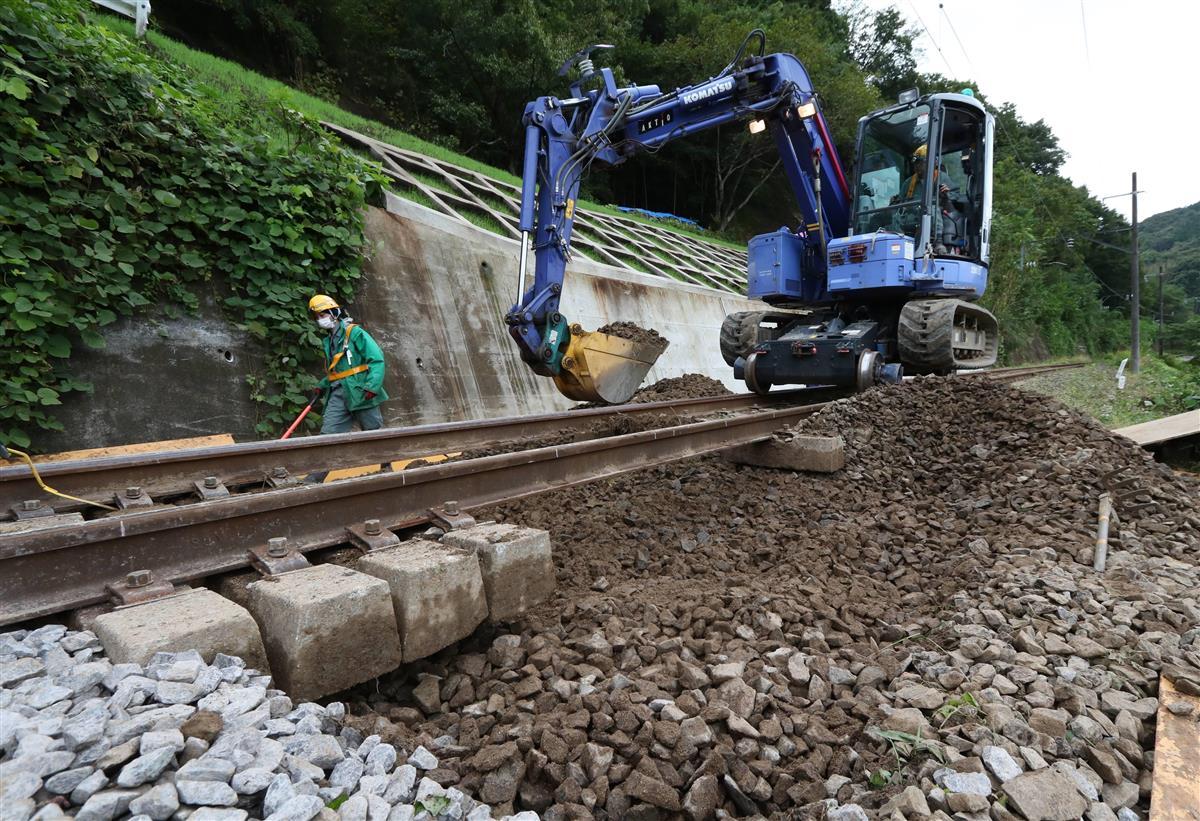 まだまだ続く阿武隈急行の復旧作業 31日に全線運転再開 昨秋…