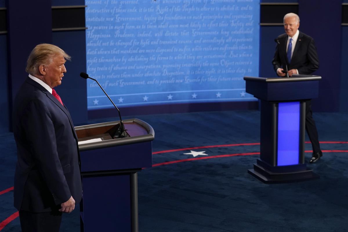 【米大統領選・最終討論会】(1)トランプ、バイデン両氏、2度…
