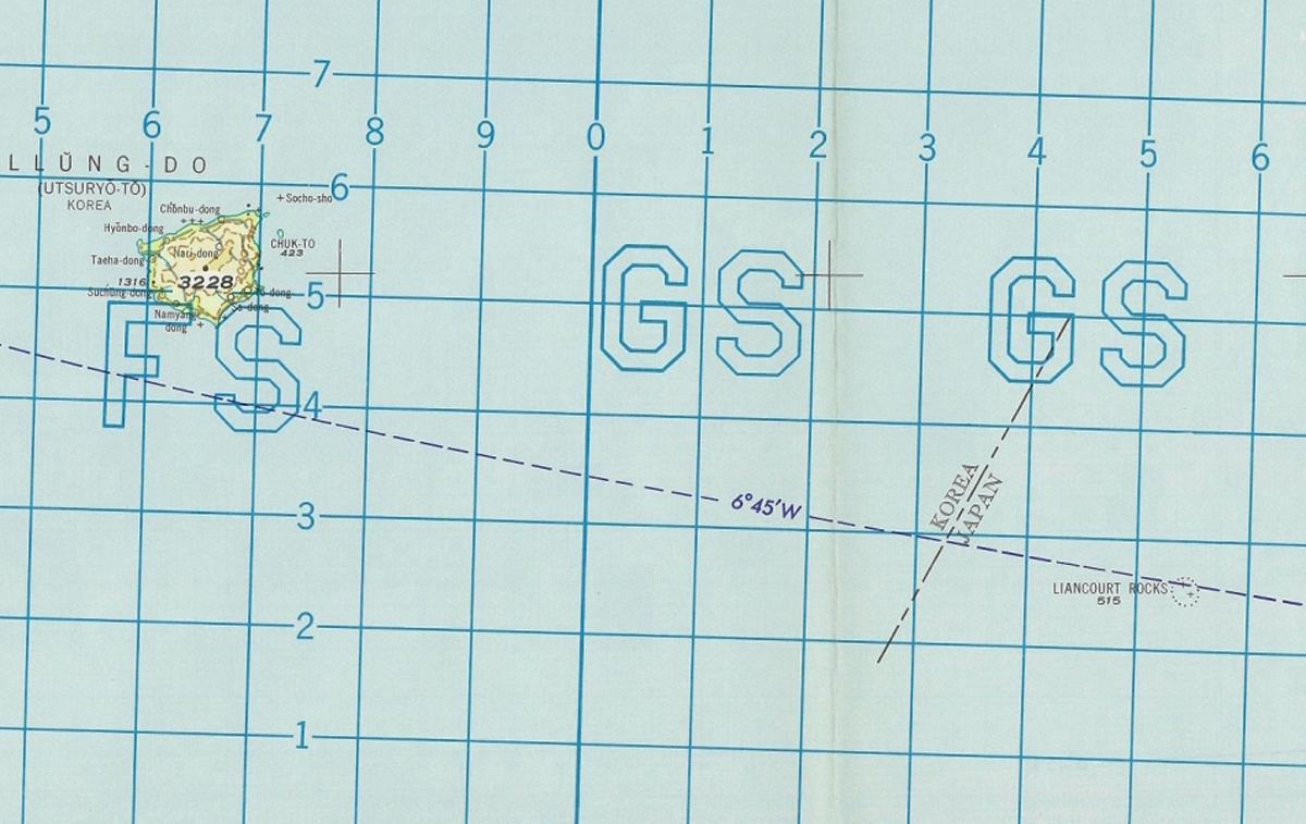 米国の航空図、竹島は「日本領」明記 講和条約反映か