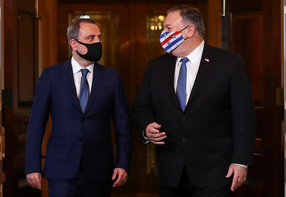 米、ナゴルノ紛争で停戦求める 国務長官が両国外相と会談