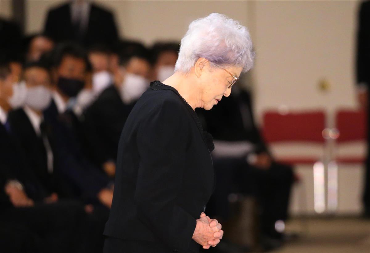 「本当に幸せな家庭だった」横田早紀江さん 滋さんお別れの会