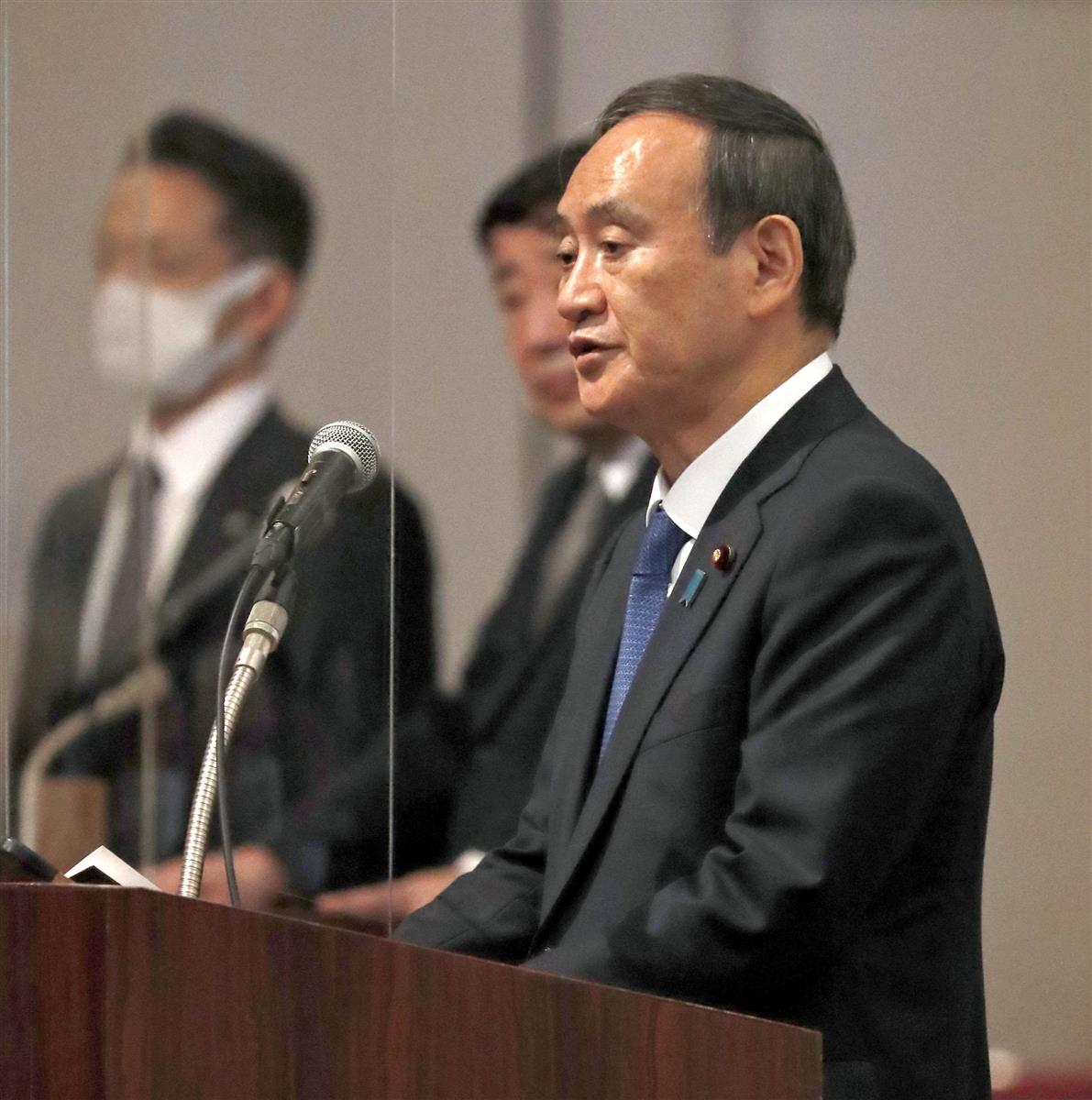 菅首相「金正恩委員長と条件つけずに会う」 改めて強調