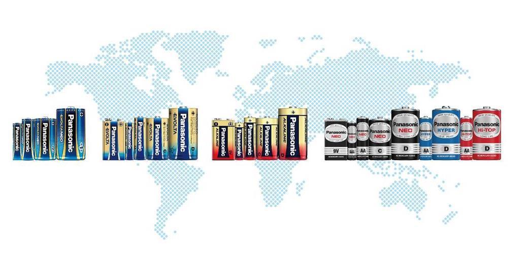 パナソニックの乾電池、出荷数が地球250周分2千億個を突破