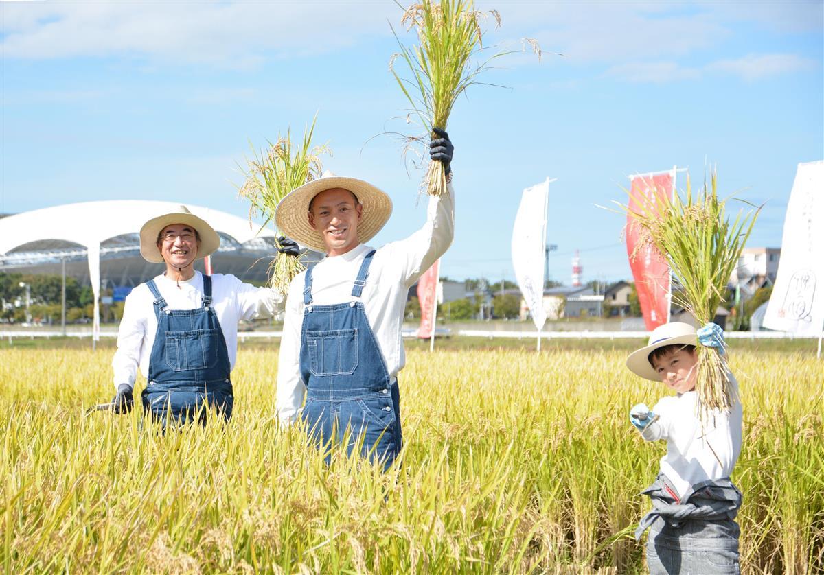 海老蔵親子がバックアップ 新潟、日本一の〝米どころ〟死守へ