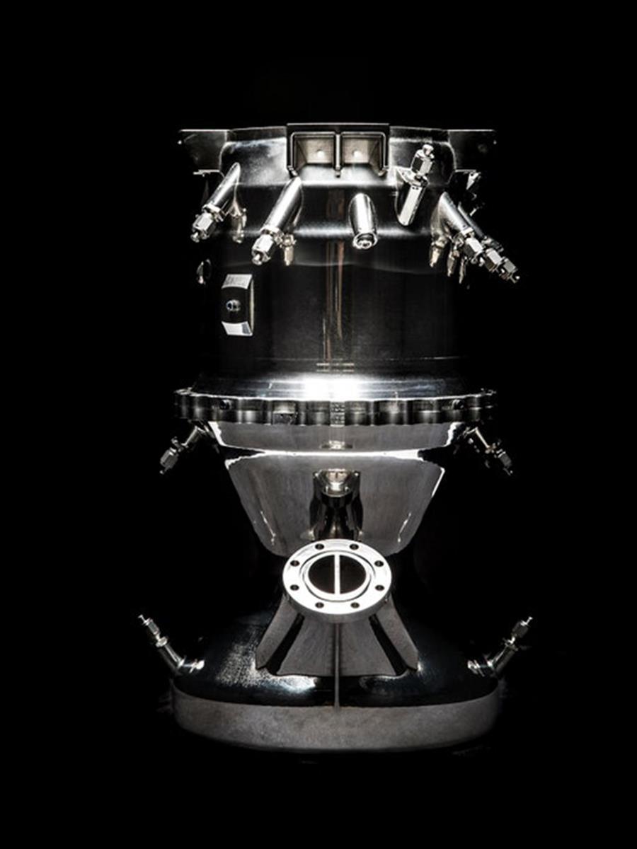 3DプリンターでロケットをつくるためにRelativity Spaceは、エンジンをはじめとする多くの部品の設計を簡素化した。PHOTOGRAPH BY RELATIVITY SPACE