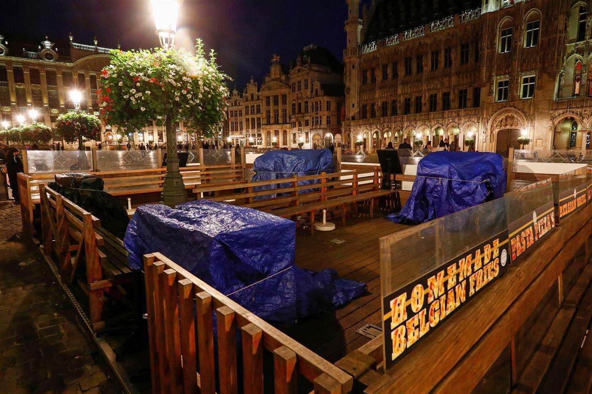 ベルギー首都外出規制強化 新規感染1日1万5千人も