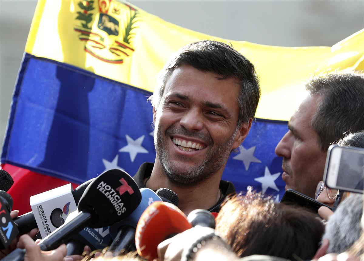 ベネズエラ野党指導者出国 秘密裏にスペインへ