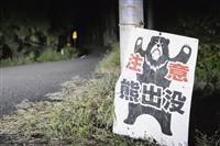 クマ被害対策で連絡会議 関係省庁が連携確認