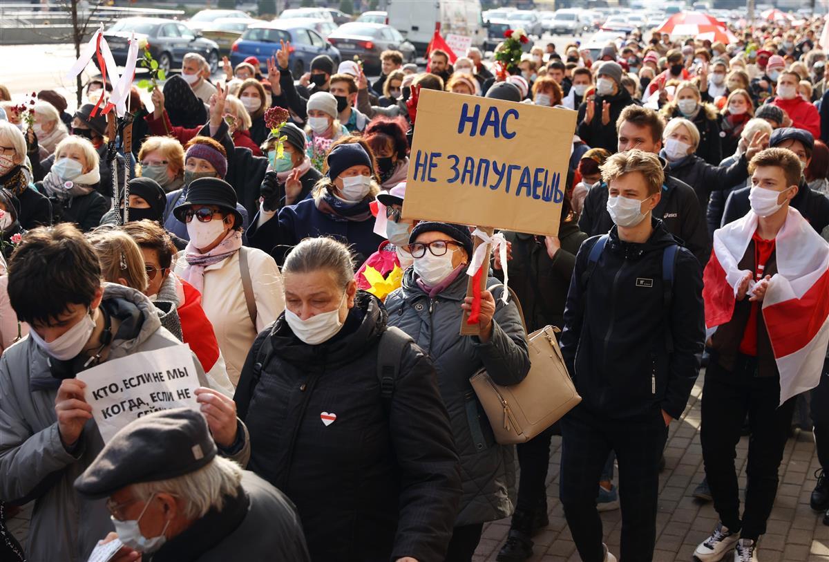 ベラルーシ、ゼネスト始まる 大統領選に抗議