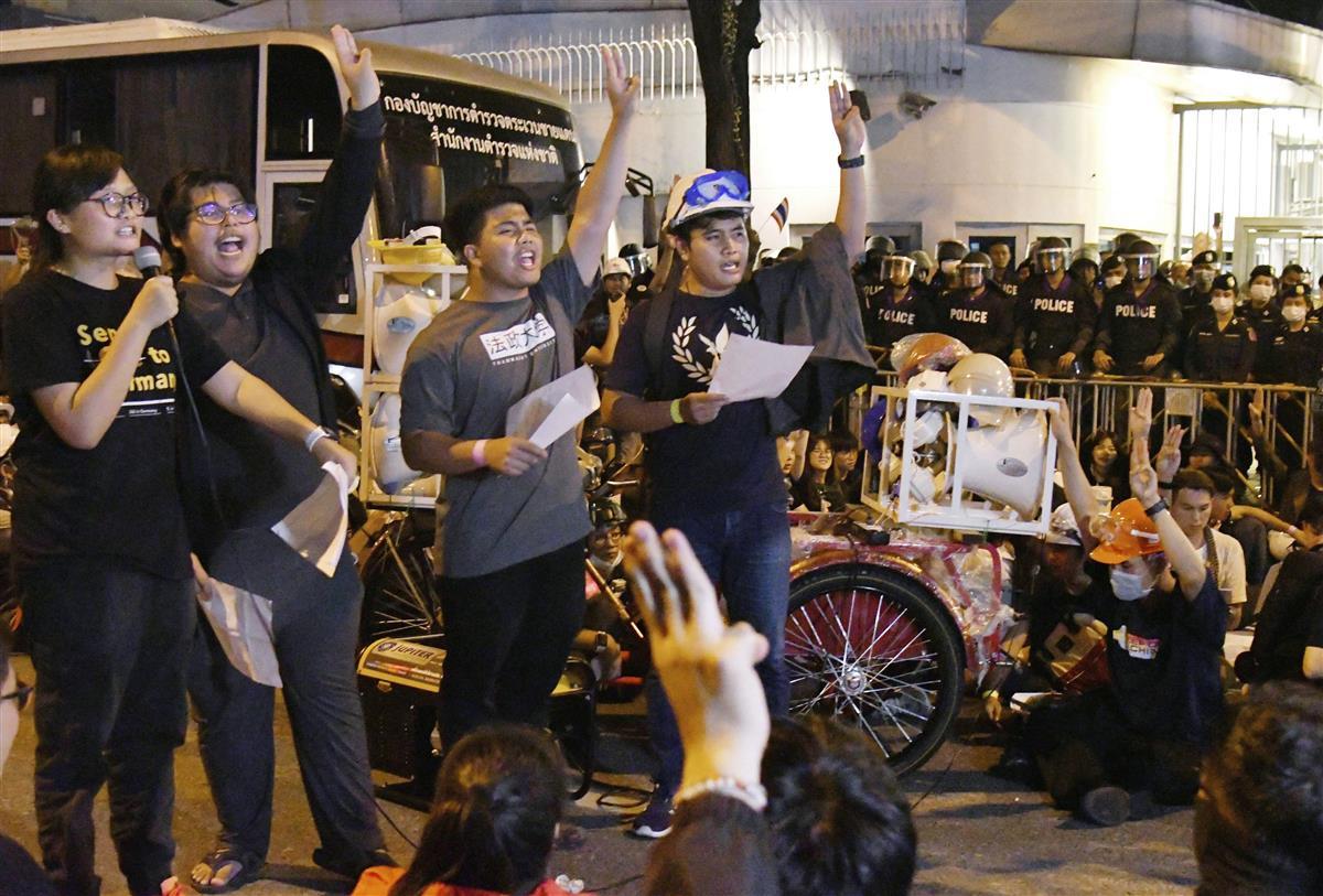 タイ首相、改憲手続きを表明 学生らは独大使館に要望書