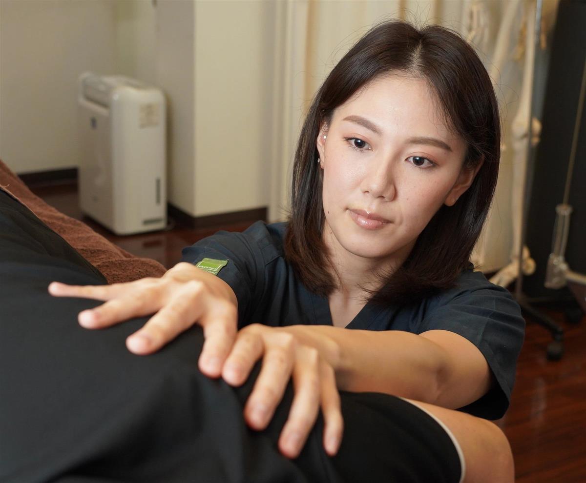 トレーニング指導も重視する鍼灸師、立石満美さん